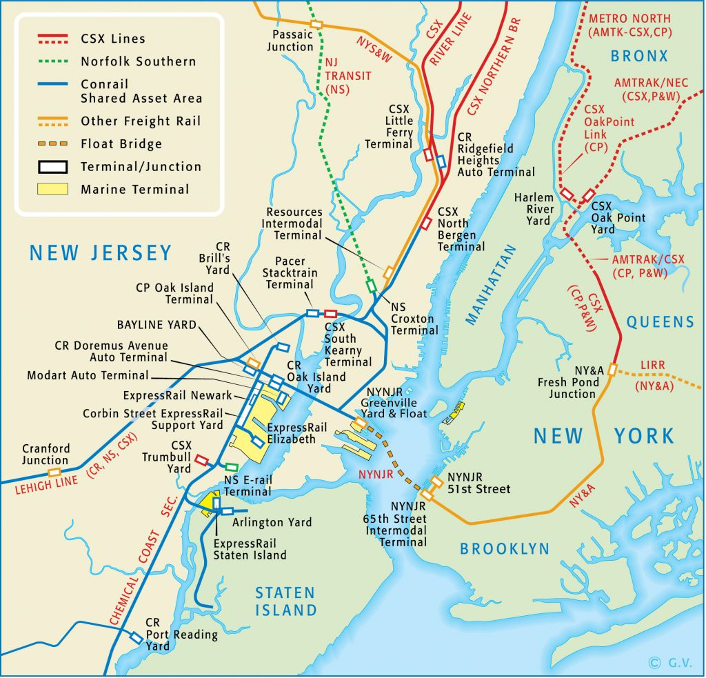 Route Map New York New Jersey Rail LLC
